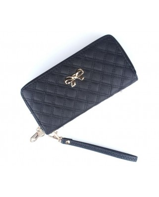 Bow double purse black