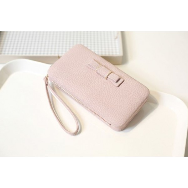 Bow purse pink