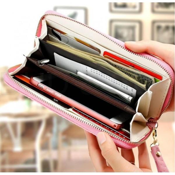 Saffiano bow purse pink