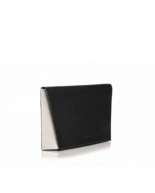 Τρίχρωμη Δερμάτινη Τσάντα Capote Paula μαύρη
