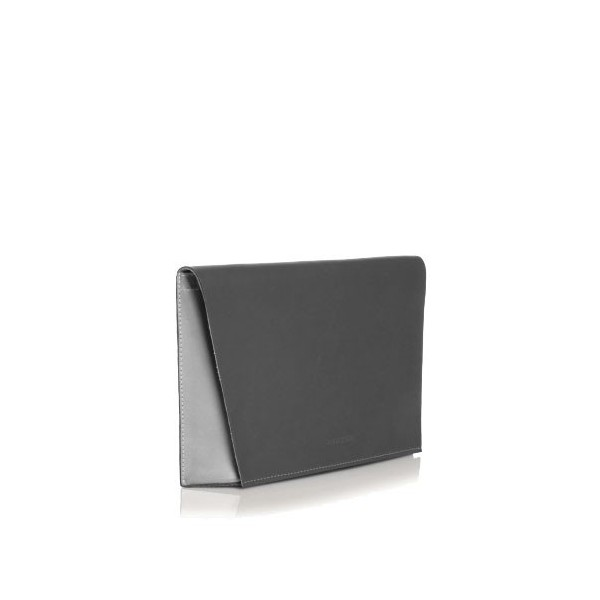 Capote Graphite Leather Bag graphite/pearl grey/fuchsia