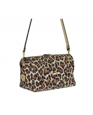 Leather Barel Leopard
