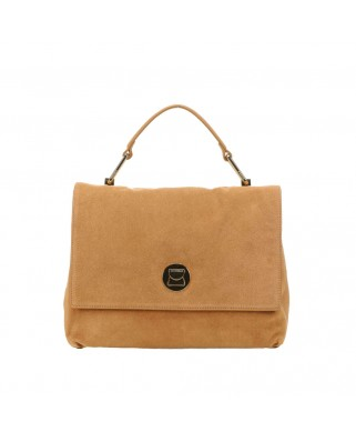 Liya Suede Medium Handbag Black