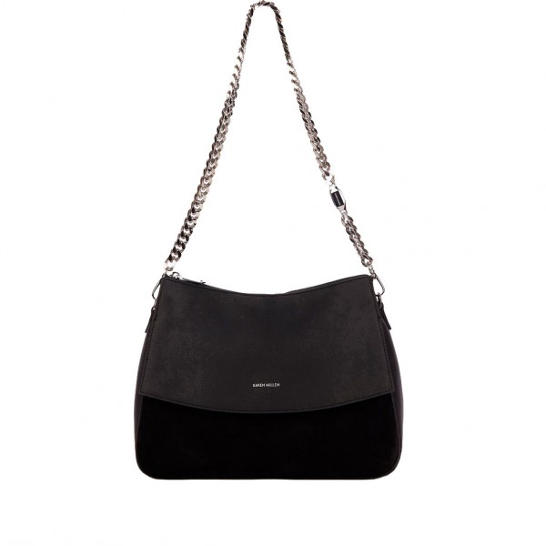 Leather Chain Regent Bag Black