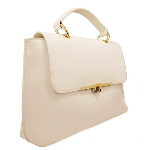 Maya Leather Shoulder Bag Beize