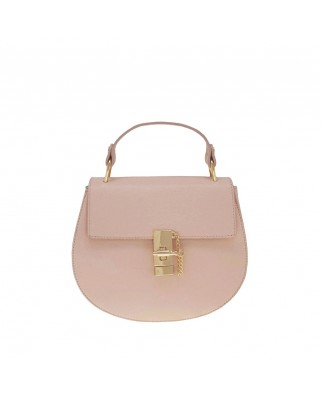 Eleine Leather Shoulder Bag Pink