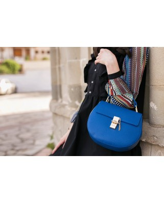 Eleine Leather Shoulder Bag Blue
