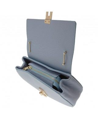 Eleine Leather Shoulder Bag Light Blue