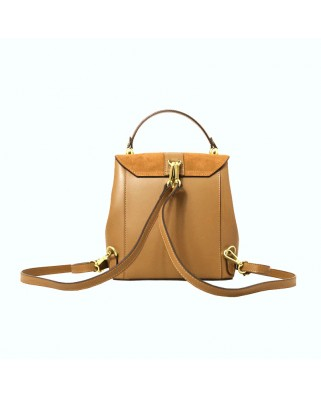 Olivia Leather and Suede Backpack