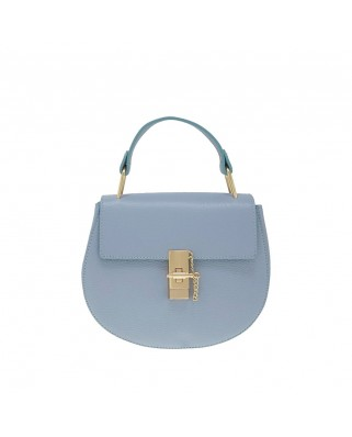 Eleine Leather Shoulder Bag Light Blue