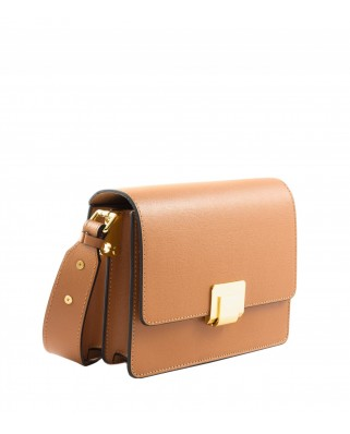 Silia Leather Messenger Tabac