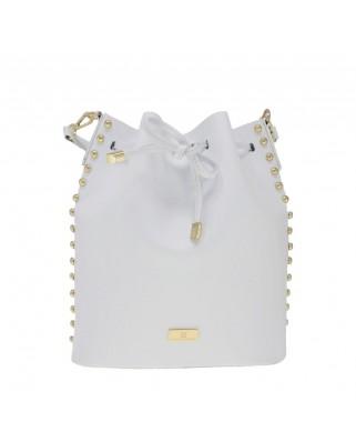 Δερμάτινη τσάντα ώμου Graziella Άσπρη