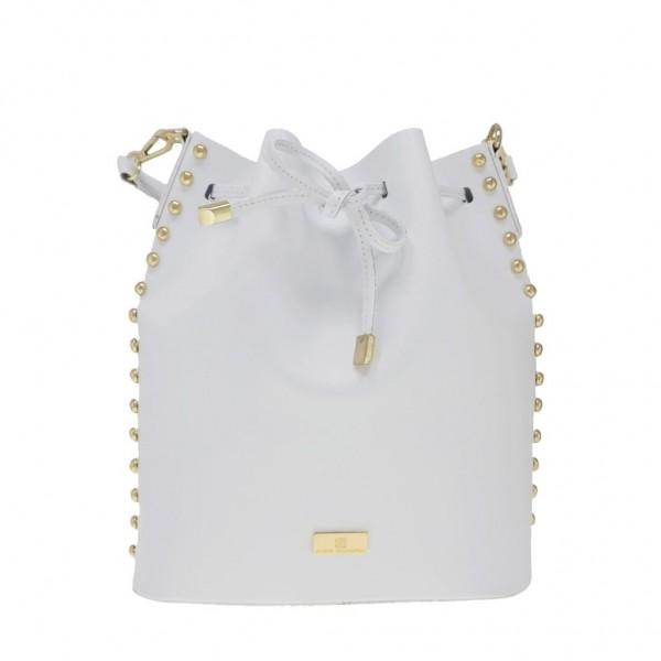 Graziella Leather Bucket White