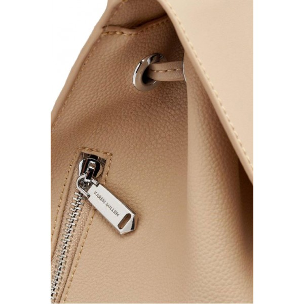 Chelsey Leather Backpack Natural