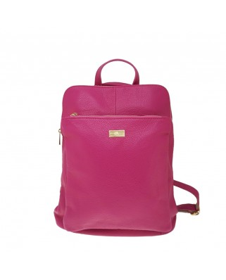 Patrizia Leather Backpack fuchsia