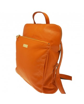 Patrizia Leather Backpack orange