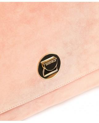 Liya Suede Medium Handbag Plum