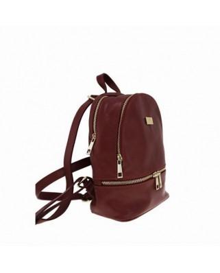 Amelie Leather Backpack bordeaux