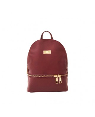 Amelie Leather Backpack bordeaux
