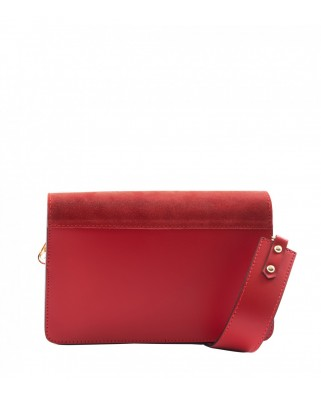 Thita Small Leather and Suede Crossbody Bag