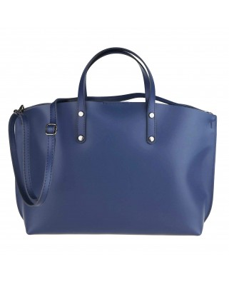 Casilda Leather Handbag blue