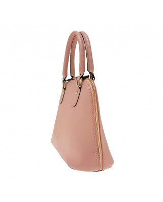 Megan Leather Handbag pink