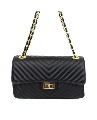 Nicole Quilted Leather Shoulder Bag