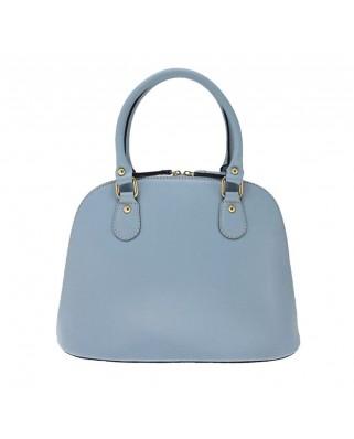 Δερμάτινη τσάντα ώμου - χειρός Megan Γαλάζια
