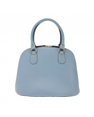 Megan Leather Handbag light blue