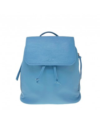 Zelinda Leather Backpack light blue