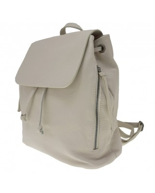 Zelinda Leather Backpack beize