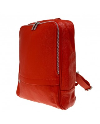 Betta Leather Backpack Red