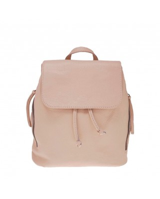Zelinda Leather Backpack pink