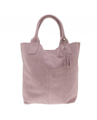 Arianna Suede Shoulder Bag Pink