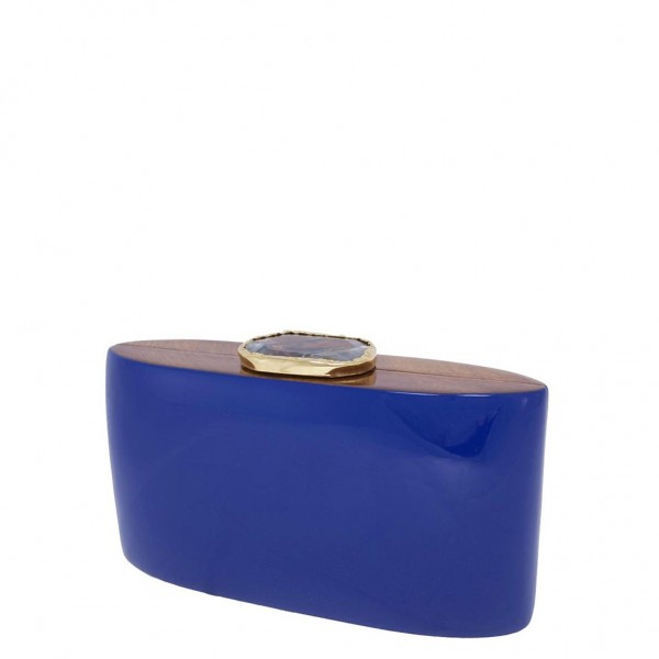 Wooden Bag Iconic Stones Blue