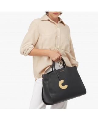 Concrete Maxi Handbag Black