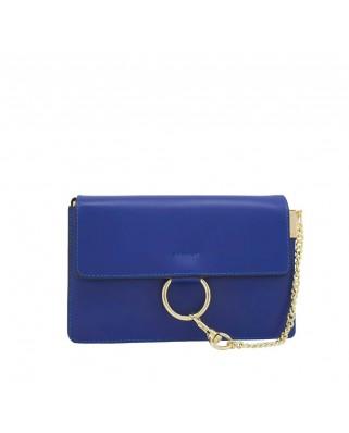 80acae2511 Δερμάτινη τσάντα ώμου Gazelle μπλε ...