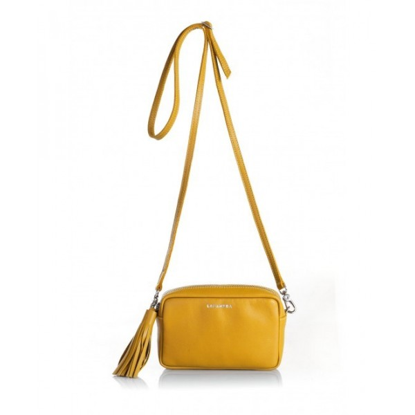 Mini Chic Leather Clutch Amber
