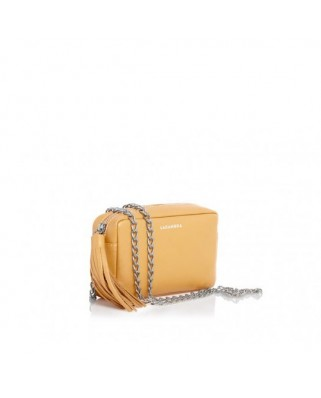 Mini Chic Leather Clutch Amber