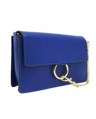 Δερμάτινη τσάντα ώμου Gazelle μπλε