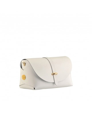 Leather Barel White