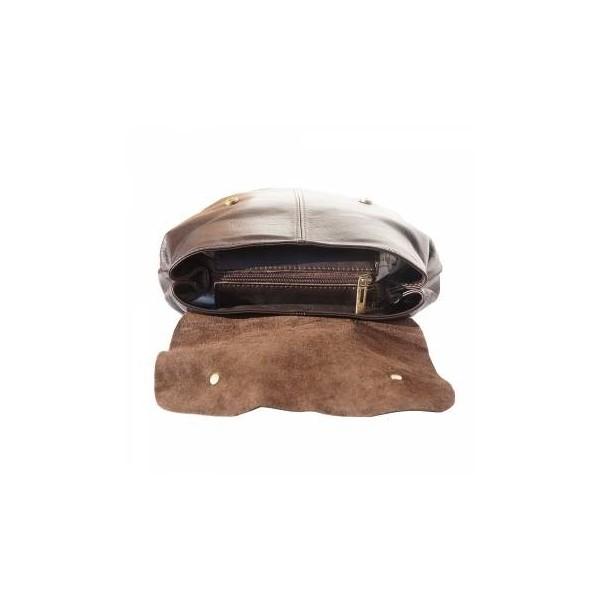 Unisex Vara Leather Backpack Brown