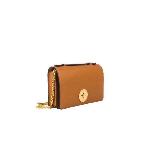 Melia Leather Handbag Tabac
