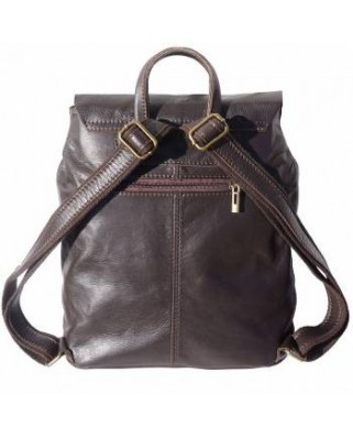 Unisex Vara Leather Backpack Brown
