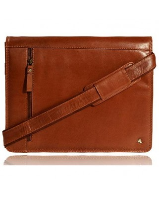Carter Messenger Bag A4 Tan