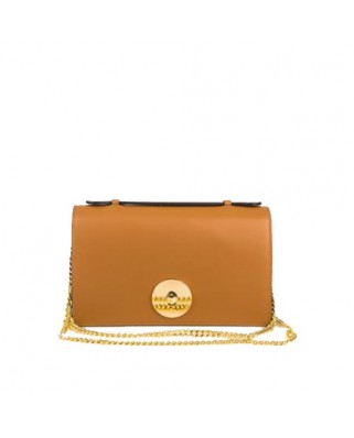 Melia Leather Handbag Tabac