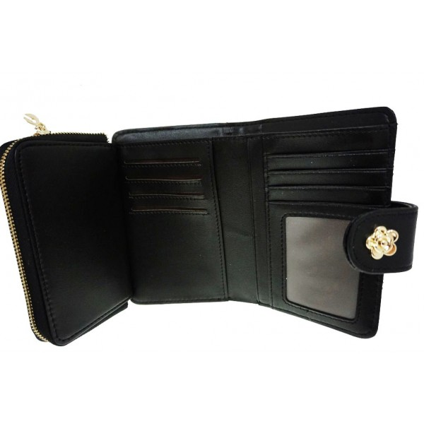 Rose Cash & Coin Purse black