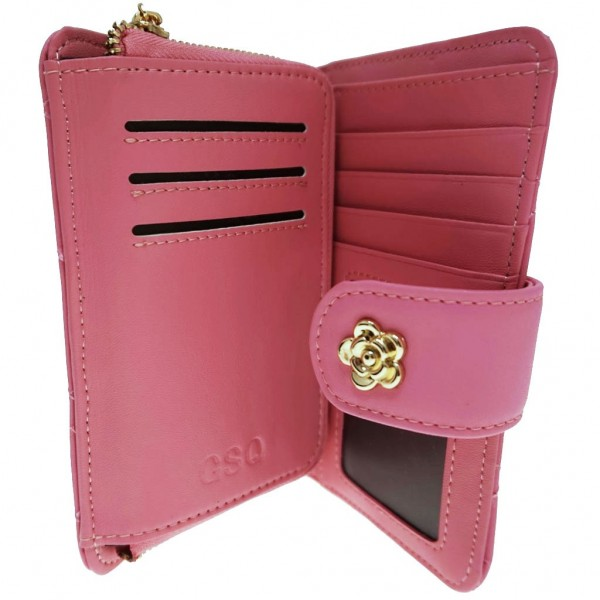 Rose Cash & Coin Purse pink