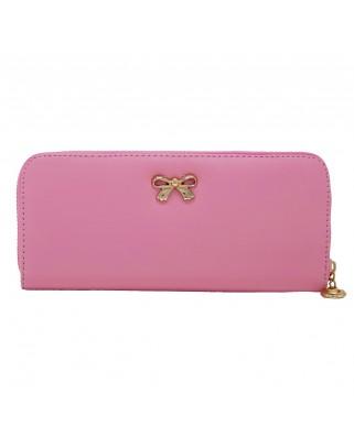 Γυναικείο πορτοφόλι από saffiano leather ροζ
