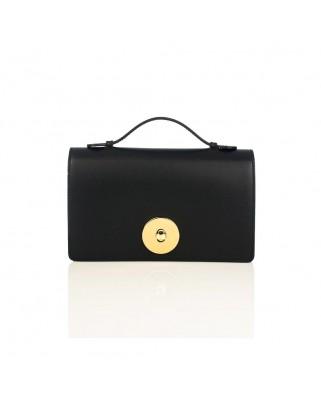 Δερμάτινη τσάντα ώμου Melia μαύρη